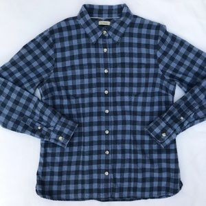 L.L. Bean flannel gingham button down shirt